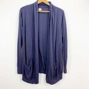 Wilfred Blue Open Front Cardigan Sweater Medium